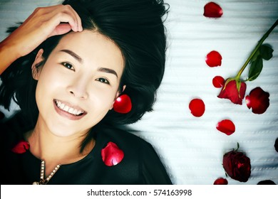 Say love with red rose to your lovers in Valentine's Day. Love is all around.I do loving you all day and night. Love digital concept.