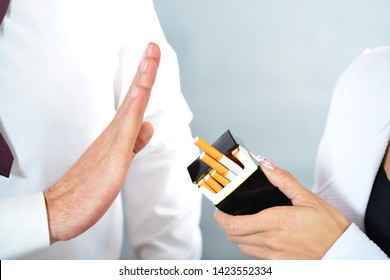 Say no to cigarette and stay healthy. smoke harms the health