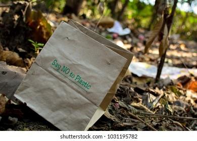 say no to plastic paper bag