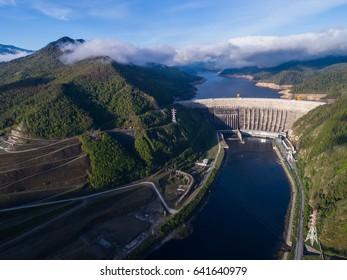 Sayano Shushenskaya hydroelectric power station. Khakassia. The Yenisei River.