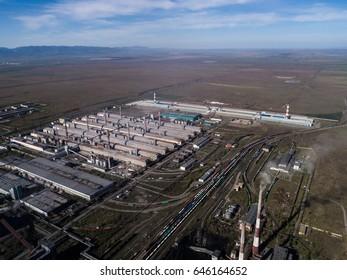 Sayanogorsk aluminum factory. Rusal. Khakassia Sayanogorsk.
