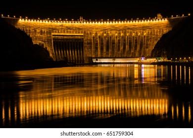 Sayano-shusheskaya hydroelectric power station. Siberia.