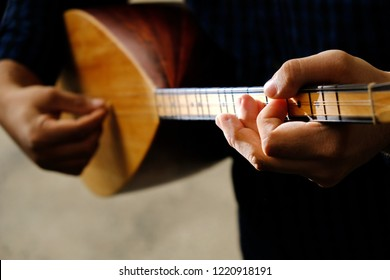 Saz-Turkish musical instrument