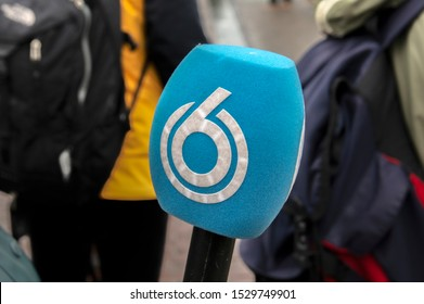 SBS 6 Logo On A Microphone At Amsterdam The Netherlands 2019