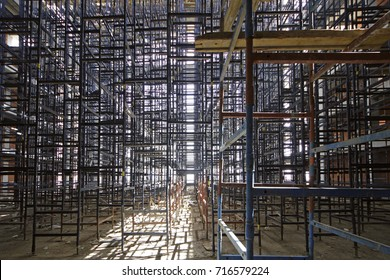 Scaffold. Construction Scaffoldings / Abstract Scaffold Texture Background.