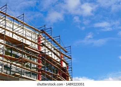 scaffold construction site building renovation structure