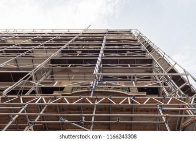 Scaffolding for a new facade