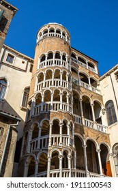 Scala Contarini del Bovolo is a hidden gem of Venice famous for its spiral staircase, Italy