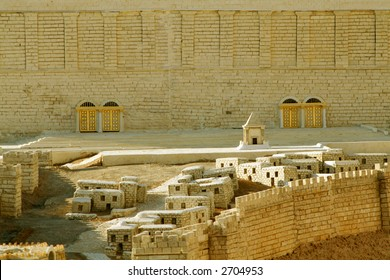 Scale model of the front of Solomon's Great Temple in Jerusalem