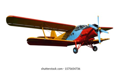 Scale model of old soviet aircraft. Photo with clipping path.
