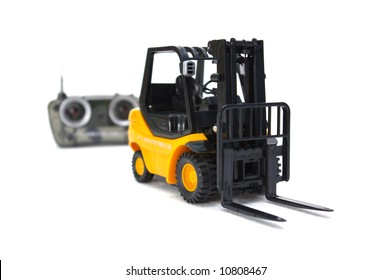 A scale radio control forklift.