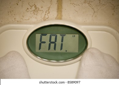 Scale telling individual that he is fat