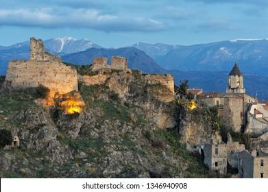 Scalea, district of Cosenza, Calabria, Italy, Europe, Tyrrhenian coast, view of the historic center village