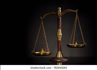 Scales of justice. Law and justice concept. Legal decisions.