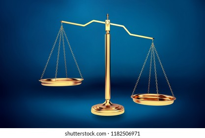 Scales of Justice on table, Weight Scale