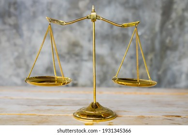 Scales of justice, Symbol of law and justice concept.