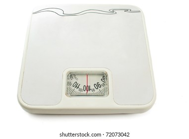 Scales on a white background