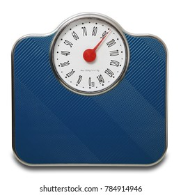 Scales for people on white background