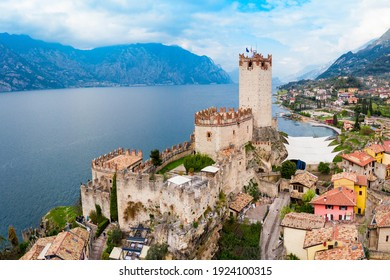 Scaliger Castle or Castello Scaligero is a medieval fortress in the Malcesine old town on the shore of Lake Garda in Verona province, Italy