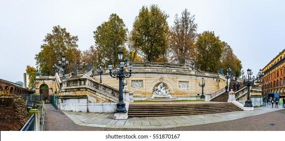 Scalinata Del Pincio in Parco della Montagnola, Bologna, Italy.