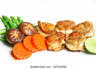 Scallops butter and garlic sauce
