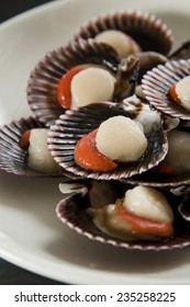 Scallops, ready to be cooked.