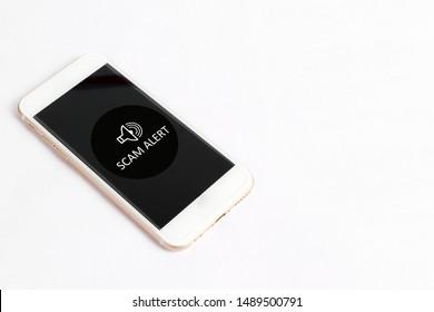 Scam Alert concept on smartphone screen