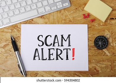 """Scam Alert"" Word on Office Workplace"
