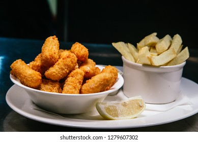 Scampi and Chips at a Seafood Restaurant