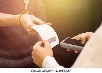 Scan check with barcode, gadget for scanning