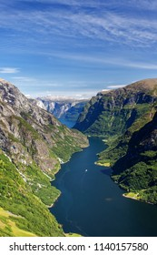Scandinavia nature fjord and mountain in National Park in Norway and Sweden