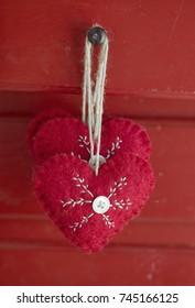 Scandinavian Christmas hearts