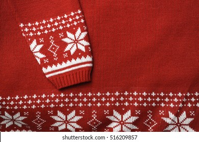 Scandinavian sweater detail