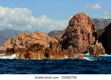Scandola natural reserve in western coast of Corsica.