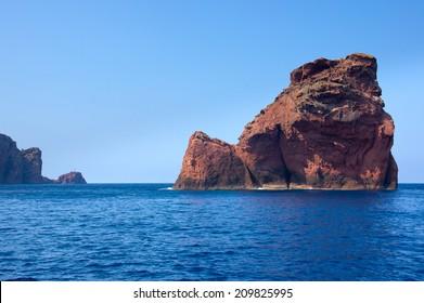 Scandola Nature Reserve, UNESCO World Heritage site, Corsica, France