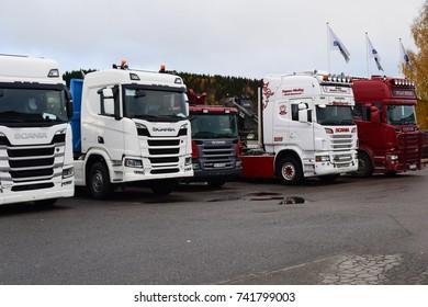 Scania trucks - Kongsvinger, Norway (25th october 2017)