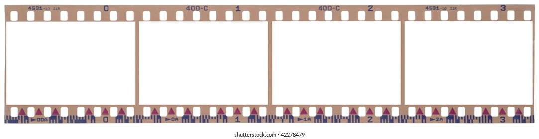 scanned film strip with clipping paths