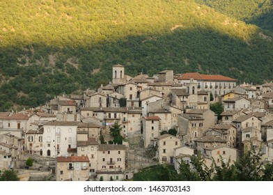 Scanno, Aquila, Abruzzo.  Scanno is an Italian town of 1 782 inhabitants located in the province of L'Aquila, in Abruzzo.  The municipal area, surrounded by the Marsican Mountains.