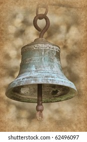 Scansen. -Old bell in Pirogovo museum, Kiev, Ukraine