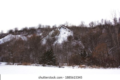 The Scarborough Bluffs landscape in Toronto. Taken in winter after a substantial snowfall.
