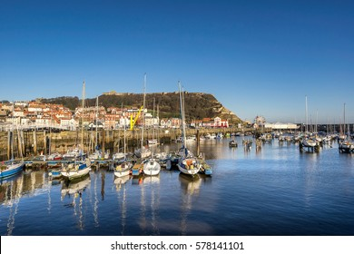 Scarborough harbour in Yorkshire England