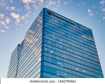 Scarborough, Ontario / Canada - 07 02 2019: Thomson Reuters building
