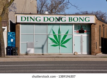 Scarborough, Ontario, Canada -May 5, 2019 A cannabis dispensary near Toronto.