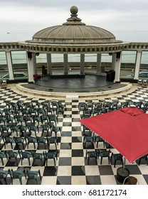 SCARBOROUGH, UK - July 4: Scarborough Spa Theatre on a grey day on July 4, 2017 in Scarborough