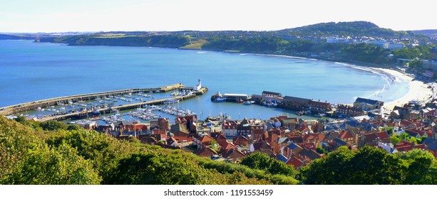 Scarborough, Yorkshire - Afternoon Shadows Panoramic View