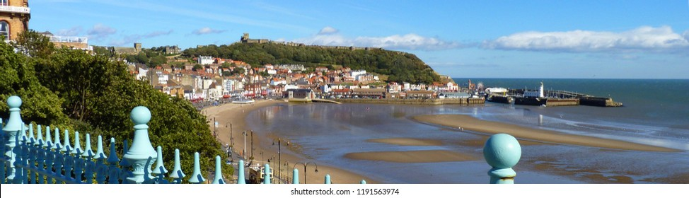 Scarborough, Yorkshire at Low Tide - A Banner Style Image