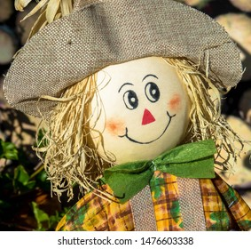 Scarecrow doll in the garden
