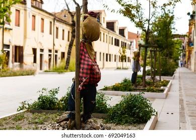 Scarecrow on the street