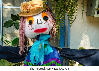 Scarecrow at traditional fall festival