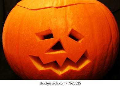 Scarey Halloween Pumpkin Face